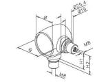 Kugel Rohrverbinder Anthrazit Design für 25,4mm oder...