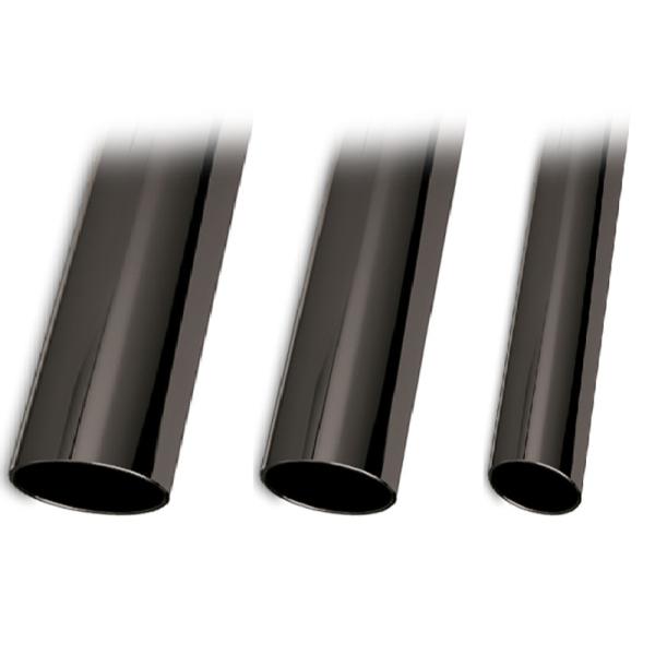 Anthrazit beschichtetes Edelstahl-Rohr 25,4 mm matt glänzend in Länge 2500 mm