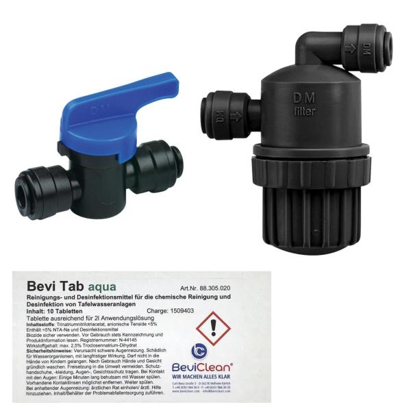Reinigungsset Kunststoff für Tafelwassergeräte Schlauchdurchmesser 6mm 8mm 9,5mm