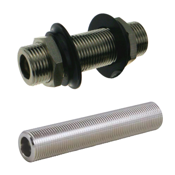 Durchgangsstutzen Doppelverschraubung Durchgangsverschraubung - 5/8 Zoll - 120mm