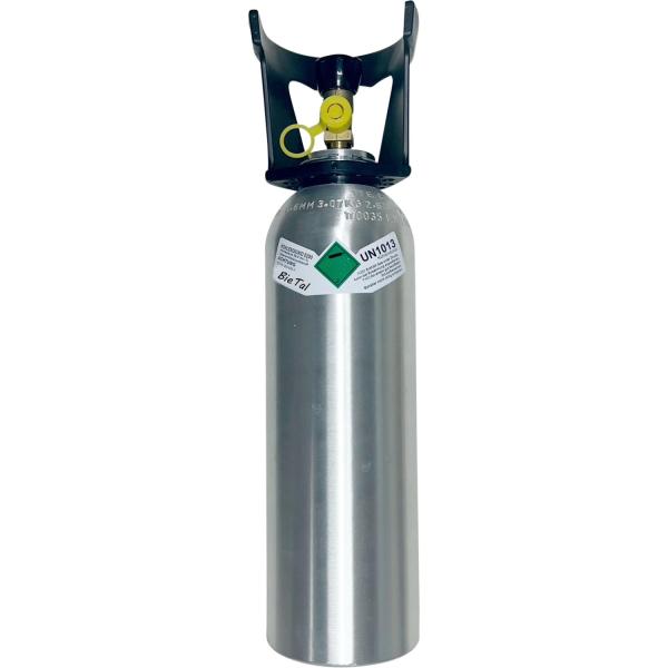 Kohlensäureflasche CO2 Flasche ALU für Getränke mit Füllung 2 kg & TÜV-Zulassung