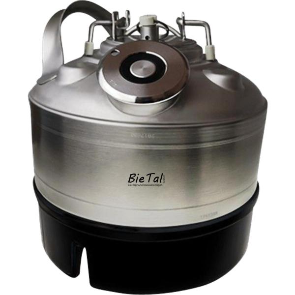 Reinigungsbehälter 5 Liter Bierleitung 1 Anschluss - KEG Typ A Flach Typ S Korb