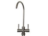 Wasserhahn Küche 2-Wege C-Auslauf - Edelstahl