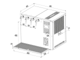 Bierkühler Zapfanlage Bierzapfanlage Auftisch Nasskühler 4-ltg 160 L/h NKT-160
