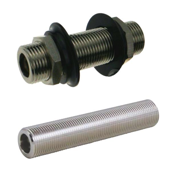 Durchgangsstutzen Doppelverschraubung Durchgangsverschraubung - 5/8 Zoll - 55mm
