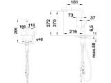 Wasserhahn Küchenarmatur Blanco FONTAS-S II - 3-Wege mit herausziehbaren Auslauf