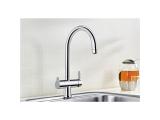 Wasserhahn Küchenarmatur Wasserarmatur - Blanco TRIMA Chrom - 3-Wege - C-Auslauf