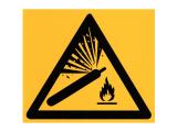 Warnung vor Gasflaschen - Aufkleber - 180x180mm
