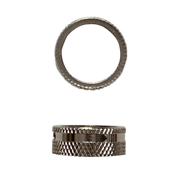 Geriffelte Überwurfmutter Rändelmutter Silber für Schankhähne mit 28 mm Gewinde