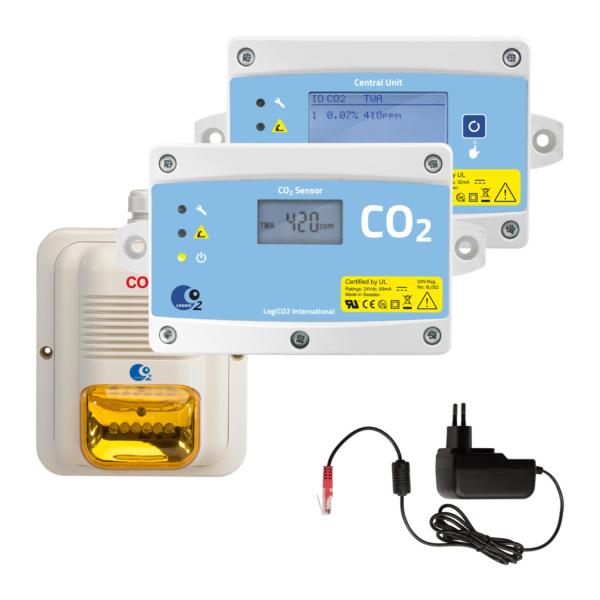 Gaswarnanlage CO2-Detektorsatz Mk9 4A LogiCO2 CO2 Sicherheitssystem Mk9 - 2 Raum