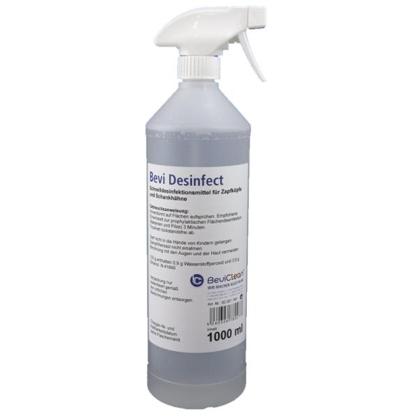 Schnelldesinfektion für Oberflächen von Tafelwassergeräten 1 Liter Sprühflasche
