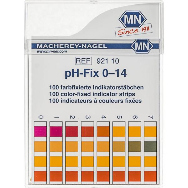Teststäbchen zur Bestimmung des pH-Wertes im Bereich pH 0-14 - 100 Stück