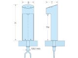 Wasserspender Tafelwasser Schanksäule blupura BluTower Edelstahl & Tropfschale