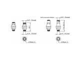 Eltek Wasserstop Wasserblock 3/4 Zoll IG x 3/4 Zoll AG