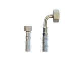 Flex Wasser Sanitär Gewebe Anschluß Schlauch DN8 - 3/8 Zoll IG auf 3/4 Zoll IG
