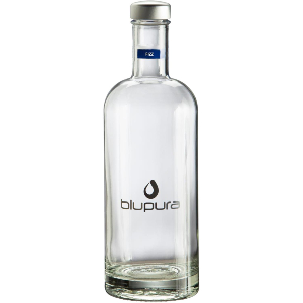 Blupura Flasche aus Glas 750ml - Style Bottle fizz - Trinkflasche Drehverschluss