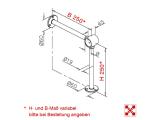 Fußlaufträger Edelstahl Design Fusslaufstützen für 38,1 oder 50,8 mm Rohre