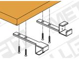 Handlaufstütze für Edelstahl Vierkantrohr 35x35 mm