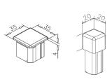 Endkappe Flach für Vierkantrohr 20 oder 35 mm