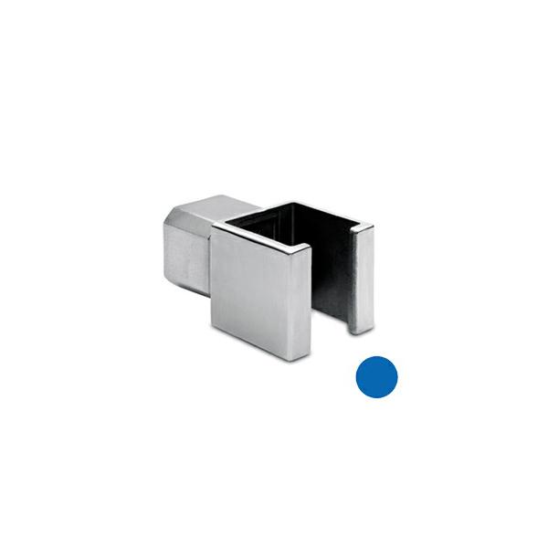 Rohrverbinder T-Form für Edelstahl Vierkantrohr 35x35 mm