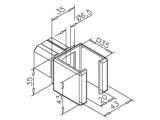 Rohrverbinder T-Form für Edelstahl Vierkantrohr...