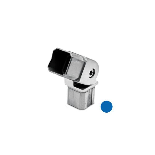 Rohrverbinder variabel (-90/+90 Grad) für Edelstahl Vierkantrohr 35x35 mm