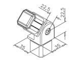 Rohrverbinder variabel (-90/+90 Grad) für Edelstahl...