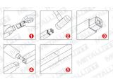 Rohrbefestigungshülse 80 Grad für Vierkantrohr 20 oder35 mm
