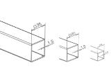 Edelstahl Vierkantrohr 8x8 mm in Längen 2500 mm