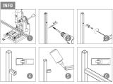 Rohradapter für Edelstahl Vierkantrohr 20x20 mm aus Zinkdruckguss