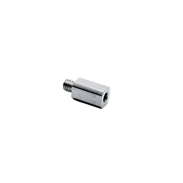 Rohradapter für Edelstahl Vierkantrohr 8x8 mm aus Zinkdruckguss
