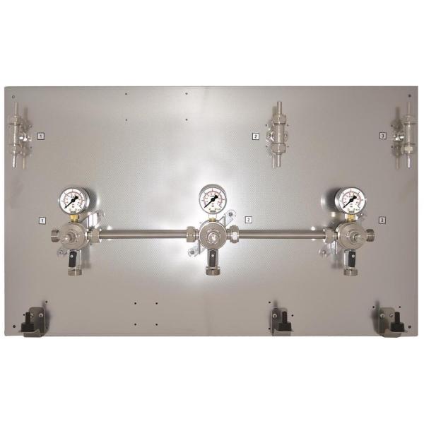 Montagetafel Zwischendruckregler 3 bar Edelstahl 2-leitig 3-leitig 4-leitig 5-leitig