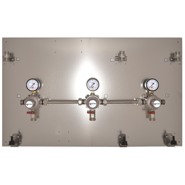 Montagetafel Zwischendruckregler Micro Matic 3 bar Edelstahl 2 3 4 5 leitig