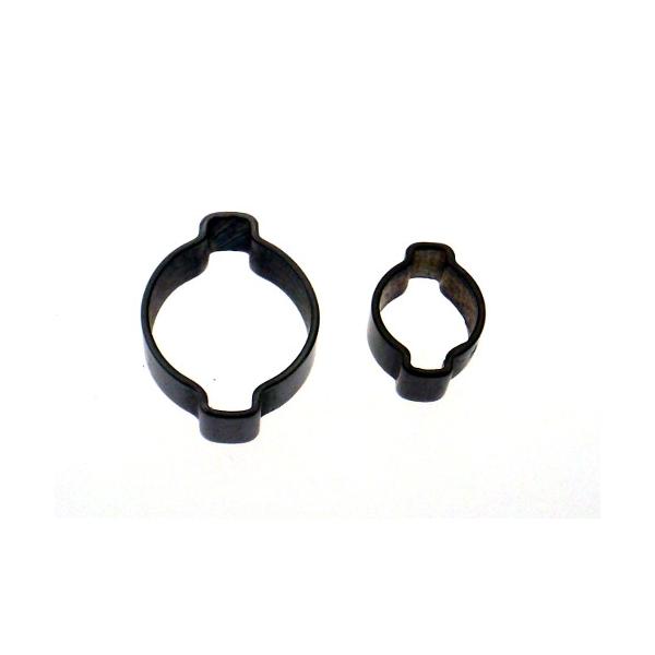 Schlauchschellen Edelstahl 2-Ohr-Klemmen für 4mm, 7mm, 10mm Schläuche