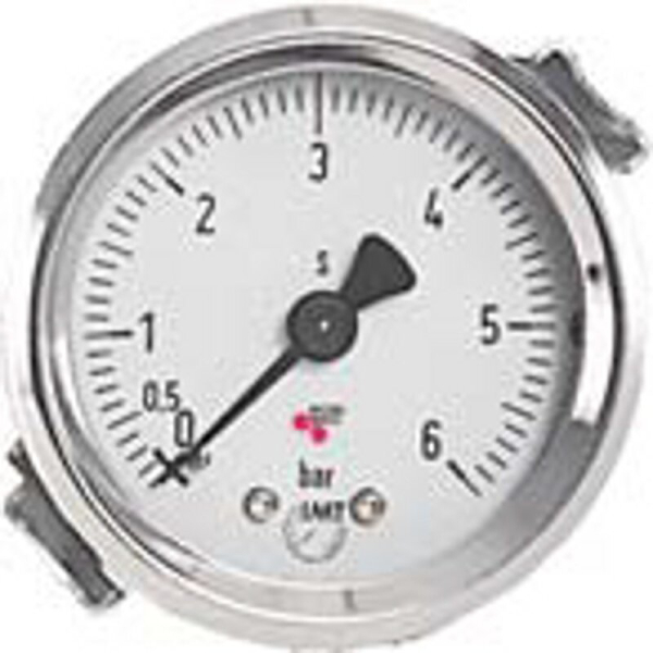Kontrolluhr Kontrollmanometer mit Bügelbefestigung