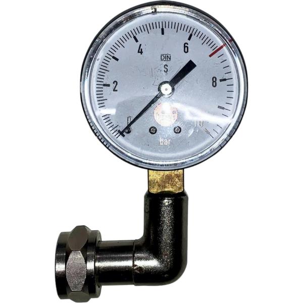 Winkelkontrolluhr Kontrollmanometer mit Krümmer - 3 bar - 7 bar