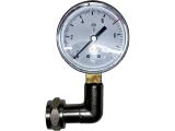 Winkelkontrolluhr Kontrollmanometer mit Krümmer - 3...