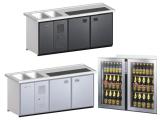 Biertheke Kühltheke MaxiMax 2000mm mit Anthrazit...