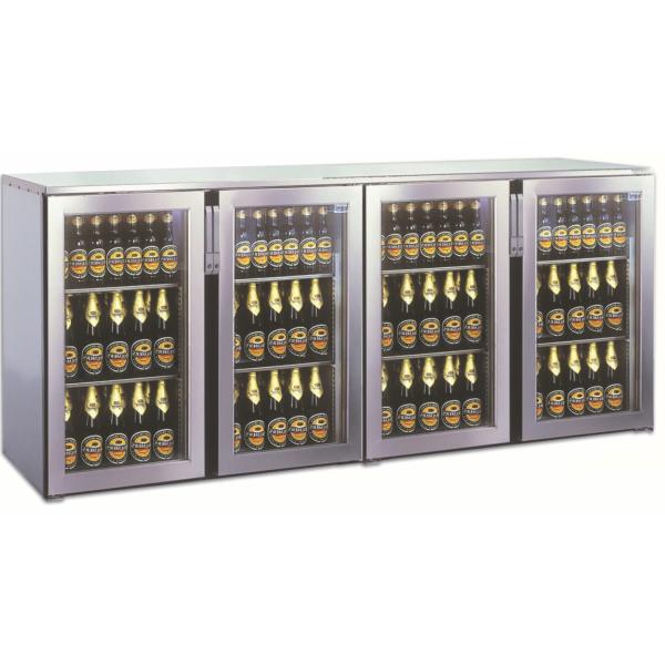 Getränketheke Kühltheke Bauteil ohne Kältesatz MiniMax - 2200mm breit 400mm tief