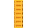 Etikettenbogen mit 20 Etiketten pro Bogen für...