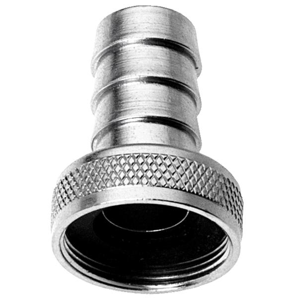 Schlauchverschraubung mit Perlatorgewinde M22 x 1mm Chrom 3/8 Zoll