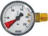 Inhaltsmanometer 50mm mit 1/4 Zoll Gewinde
