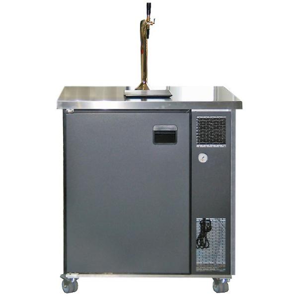 Mobile Bierbar Kühltheke Biertheke BB900 - Front Anthrazit oder Edelstahl