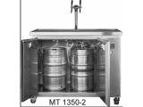 Mobile Biertheke Kühltheke Ausschanktheke Getränketheke Edelstahl Front - 1350mm