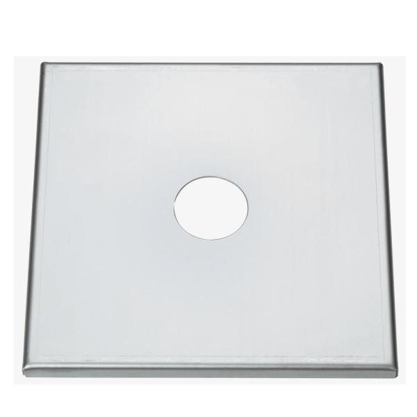Abdeckplatten aus Edelstahl 220x220mm 280x280mm zum Abdecken von Säulenbohrungen