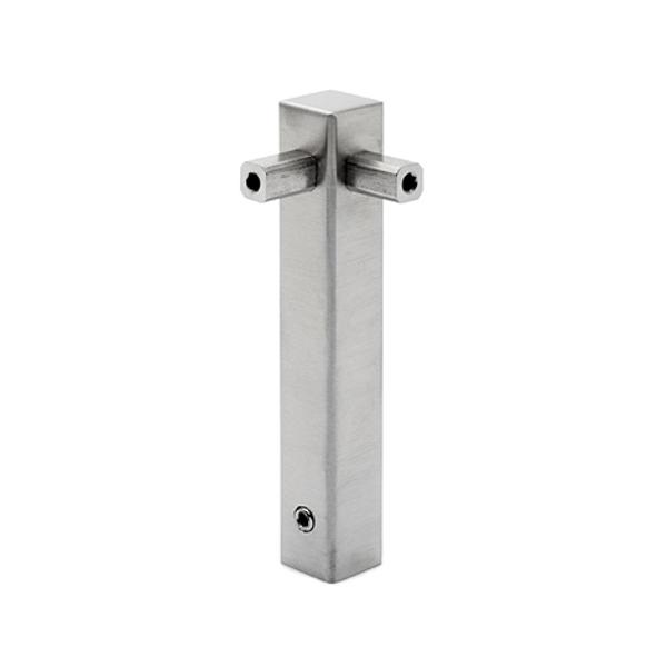 Eckstütze 12x12 mm für Reling System Vierkantrohr 8x8 mm