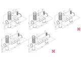 Brauhaus-Schanksäule 4, 5, 6, 7  oder 8 leitig aus 129/168 mm Rohr in 5 Finishes