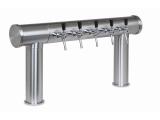 Zweibein Schanksäulen 4, 5 oder 6 leitig aus 102/129 mm Rohr in 5 Finishes