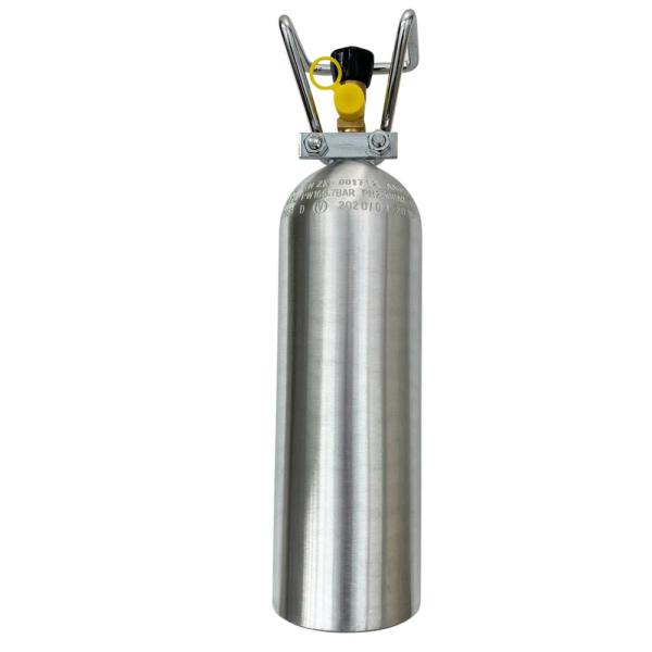 mit 2kg CO2 Flasche