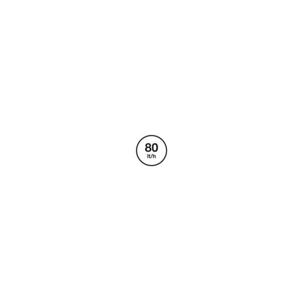 80 (l/Std) - 3 Wege